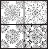 Set of floral seamless patterns Royalty Free Stock Photo