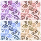 Set of floral seamless patters Stock Images