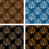 Set of floral seamless persian design Royalty Free Stock Photos