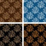 Set of floral seamless persian design Royalty Free Stock Photos