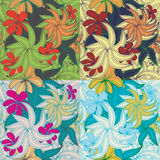 Set of Floral seamless vintage pattern Stock Photos