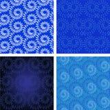 Set floral swirls pattern Stock Image