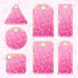 Set of floral tags. This illustration can be used for your design Stock Image
