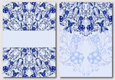 Set of floral template for design wedding invitations and greeting cards. Classic elements of tribal patterns Chinese or Russian m Royalty Free Stock Images