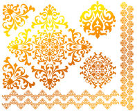 Set of floral vector patterns Royalty Free Stock Images