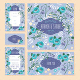 Set of floral wedding cards Royalty Free Stock Photo