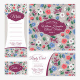 Set of floral wedding cards Royalty Free Stock Images