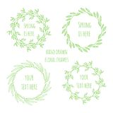 Set of floral wreathes Stock Image