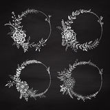 Set of floral wreaths. Stock Photo