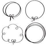 Set of flourish calligraphy vintage doodle frame. Illustration vector hand drawn EPS 10 Stock Images