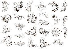 Set of flourish design elements Royalty Free Stock Photos