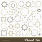 Set of flourishes frames Stock Photo