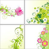 Set of flower backgrounds. Set of four floral backgrounds Royalty Free Stock Photography