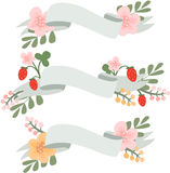 Set of  flower banners Royalty Free Stock Images