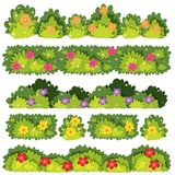 A Set of Flower Bush. Illustration royalty free illustration