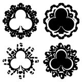 Set of Flower card seed on decorations  Royalty Free Stock Photography