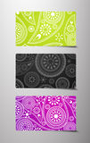 Set of flower cards. Royalty Free Stock Photo