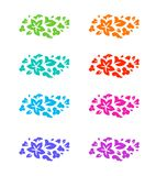Set of flower colorful decorative elements Royalty Free Stock Images