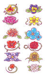 Set of flower designs Royalty Free Stock Images