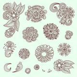 Set of flower elements Royalty Free Stock Photography