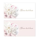 Set of flower greeting cards stock illustration