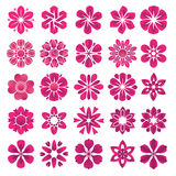 Set of flower icons Royalty Free Stock Images