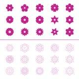 Set of flower icons,  illustration Stock Photo