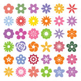Set of Flower icons. Stock Photo