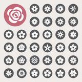 Set of Flower icons. Stock Photography