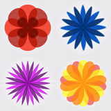 Set of flower icons Stock Photo