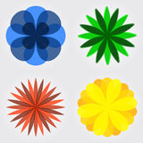 Set of flower icons Royalty Free Stock Photo