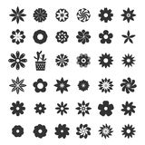 Set of flower icons Stock Images