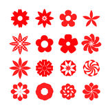 Set of flower icons Royalty Free Stock Photos
