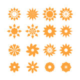Set of flower icons Stock Photography