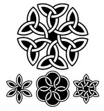 A set of flower-like knots vector illustration Royalty Free Stock Photos