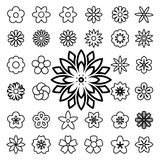 Set of flower line icons Royalty Free Stock Photography