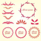 Set flower ornament. Design elements. Vector Royalty Free Stock Image