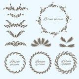 Set flower ornament. Design elements. Vector Stock Photo