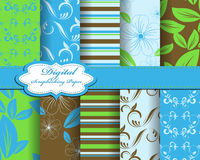 Set of flower  paper Stock Images