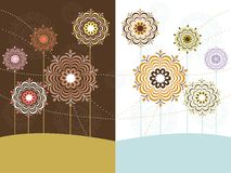 Set of flower pattern card Royalty Free Stock Photos