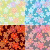 Set of flower seamless02 Stock Photography