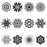 Set of flower shape icon design Royalty Free Stock Photos
