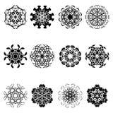 Set of flower shape icon design Royalty Free Stock Photos