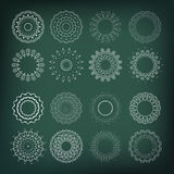 Set of flower shapes. 16 elements for your design and decorations Stock Photos