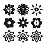 Set of flower tattoo Stock Photo