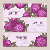Set of flower vector banners Royalty Free Stock Images