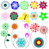 Set of flower Stock Photography