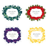 Set of flower wedding invitation card Stock Photo