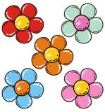 Set of flowers. In vector Royalty Free Stock Images