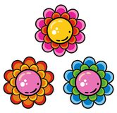 Set of flowers. In vector Stock Image